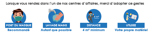 instructions covid19 centres d'affaires